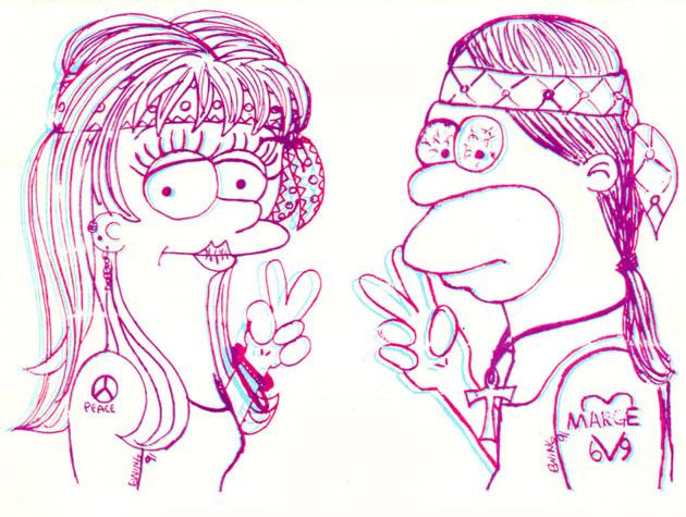 Молодые Гомер и Мардж Симпсон