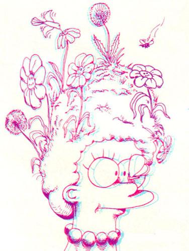 Мардж Симпсон и цветы на голове