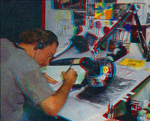 Джонсор рисует фон Симпсонов