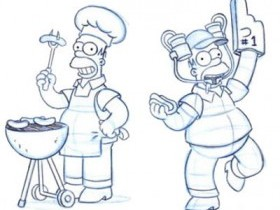 Как рисовать Гомера Симпсона