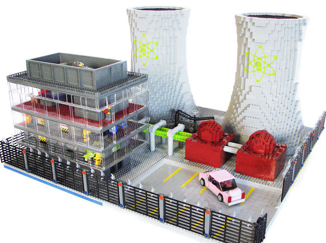 Электростанция Спрингфилда из лего