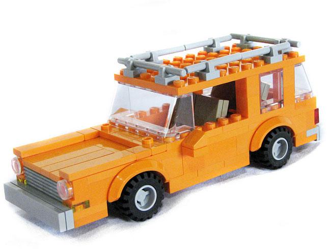 Машина Симпсонов из лего