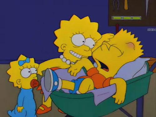Лиза заботится о Барте