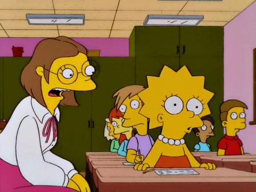 Лиза Симпсон в школе