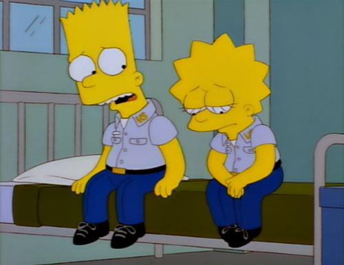 Лиза и Барт в военной школе