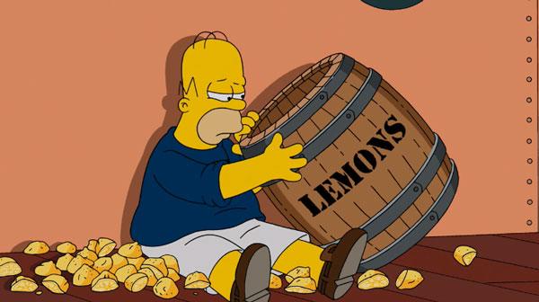 Гомер ест лимоны