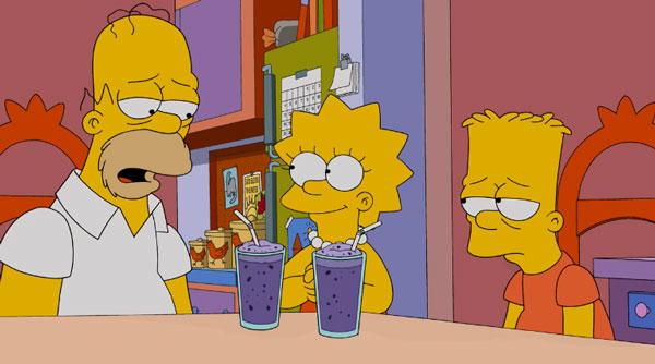 Напиток смузи для Гомера и Барта