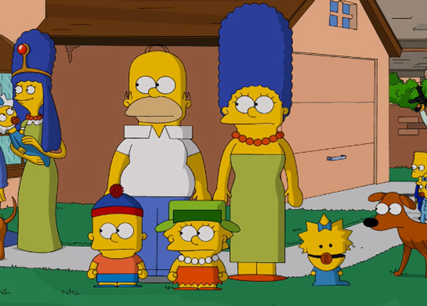 Симпсоны пародия на Южный парк