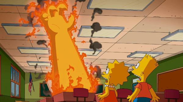 Парта из ада в Симпсонах