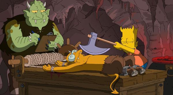 Барт в аду с топором.