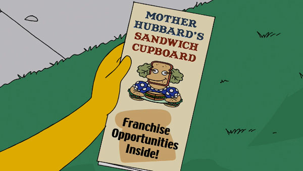 Мардж покупает франшизу на продажу сэндвичей