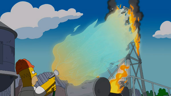 Гомер и горящая вода