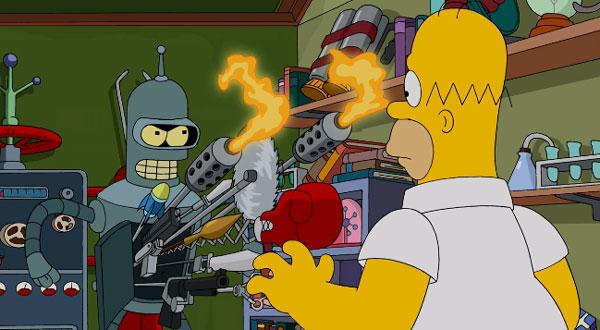 Бендер хочет убить Гомера Симпсона