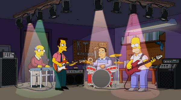 Симпсоны играют тяжелый рок