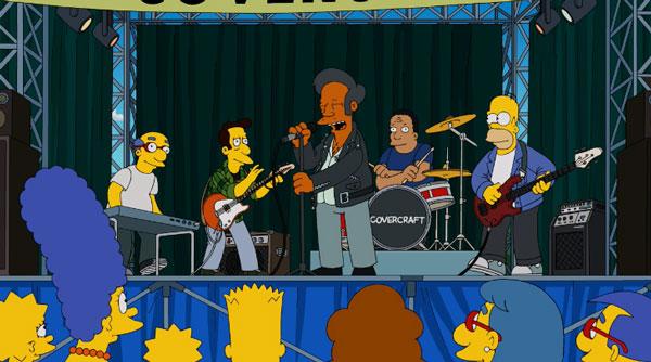 Рок группа Гомера на фестивале