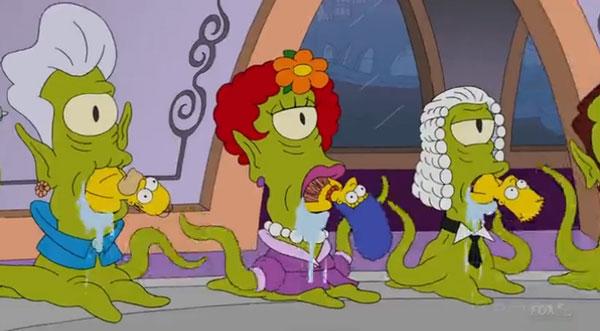 Пришельцы едят Симпсонов