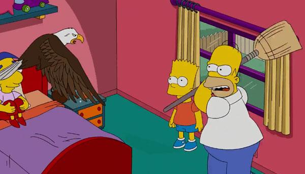 Гомер ловит орлана