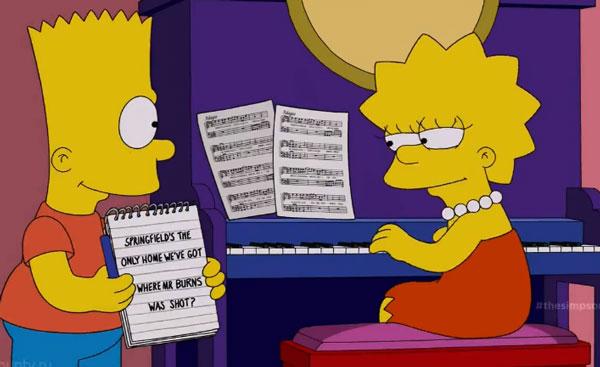 Барт и Лиза сочиняют гимн