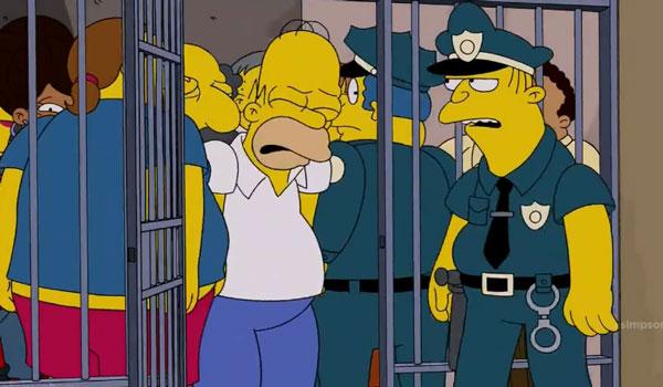 Гомер арестован