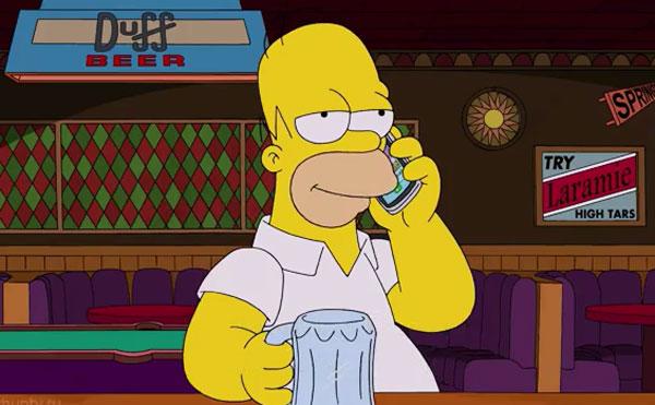 Гомер пьет пиво