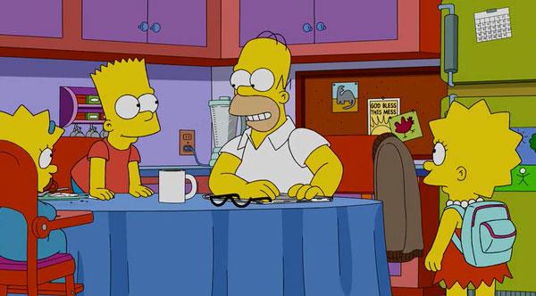 Утро у Симпсонов