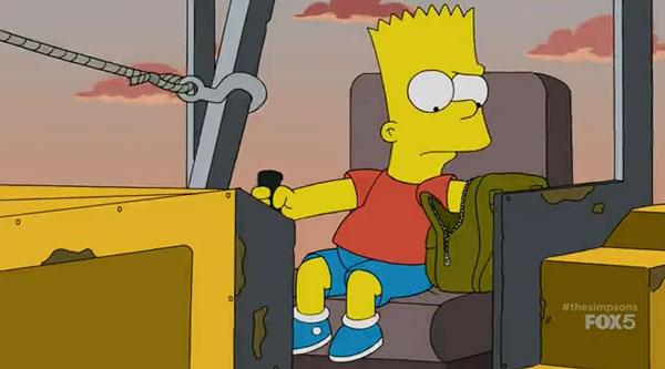 Барт за рулем бульдозера