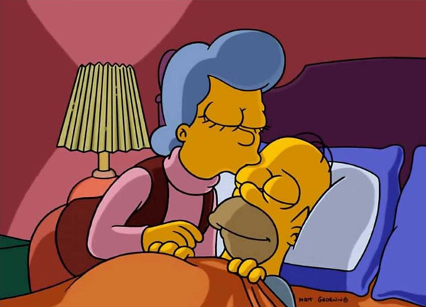 Гомер и мама Мона Симпсон