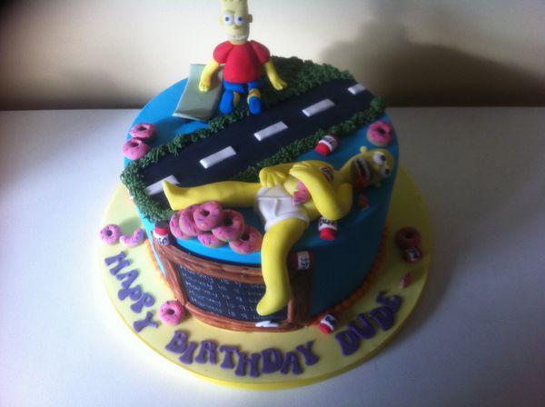 Торт Гомер Симпсон и Барт