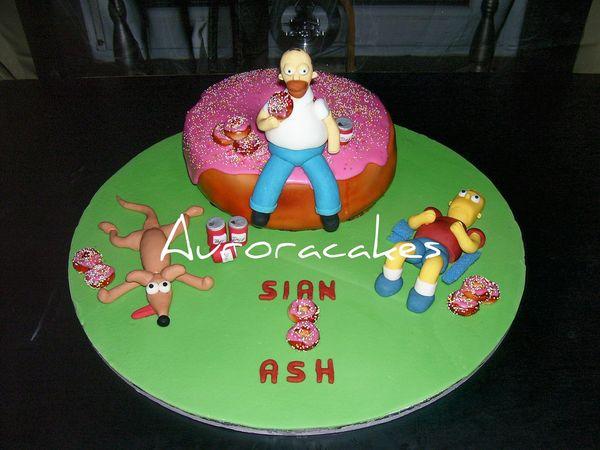 Торт Гомер на пончике