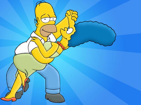 Гомер и Мардж Симпсон