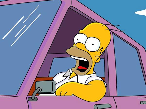 Гомер на машине