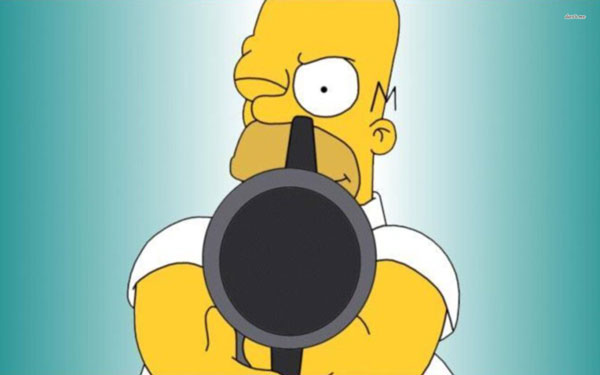 Гомер с пистолетом