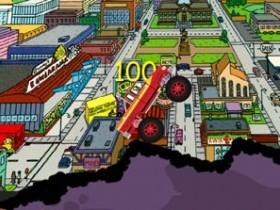 Гомер за рулем монстра-внедорожника