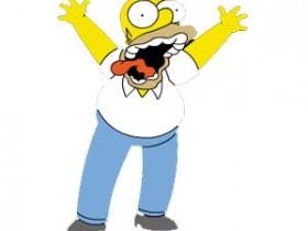 Гомер Симпсон корчит рожи