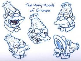 Рисуем дедушку Симпсона