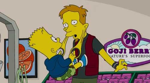 Барт и продавец в магазине