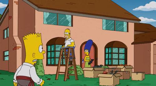 Симпсоны убирают все ужастики на Хэллоуин