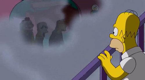 Гомер и трое незнакомцев в доме