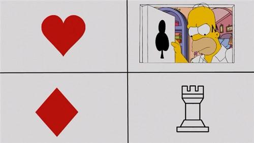 Гомер играет в покер