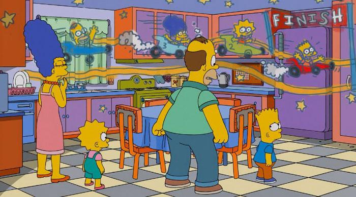 Барт рисует в доме