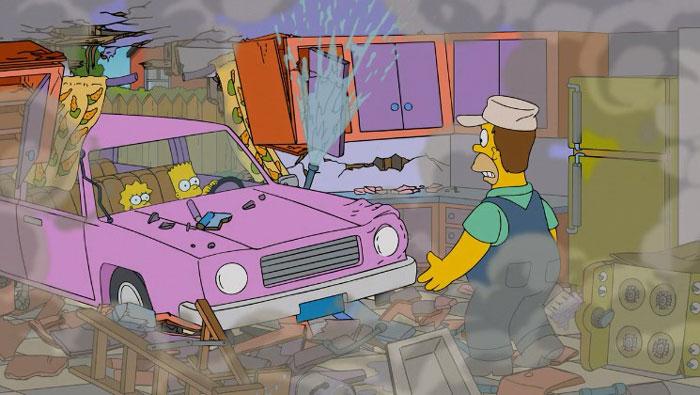 Барт за рулем машины