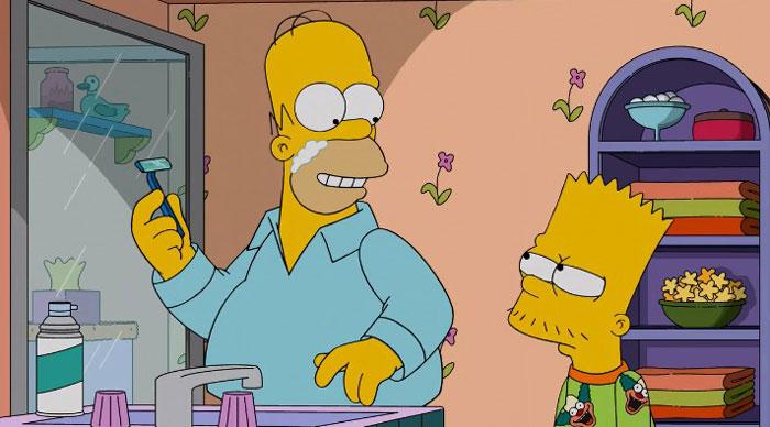 Барт бреется