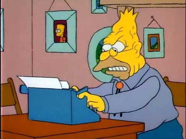 Абэ Симпсон пишет письмо