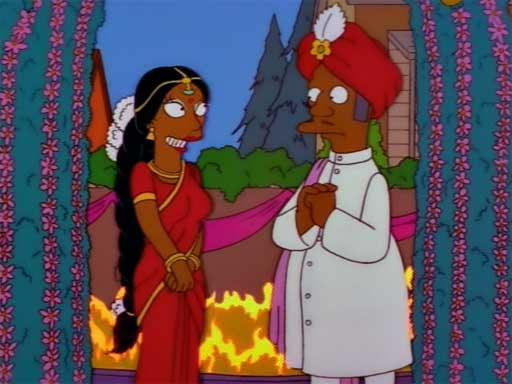 Апу Симпсон женится