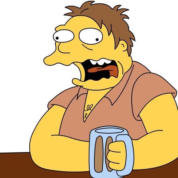 Барни Гамбл алкоголик