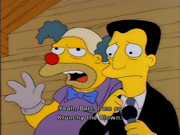 Барни вместо клоуна Красти
