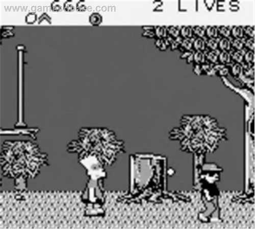 Игра Симпсоны на Game Boy