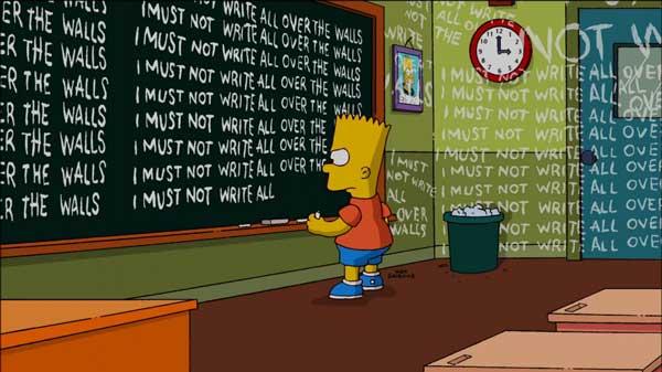Барт Симпсон в школе