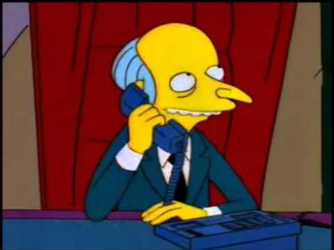 Бернс звонит по телефону