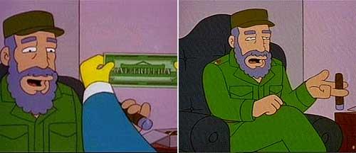 Бернс и Фидель Кастро